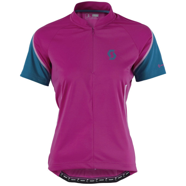 Scott Endurance Q-Zip Damen Shirt festival purple/seaport blue