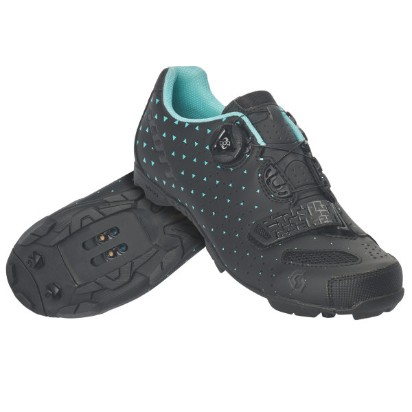 Scott MTB Comp Boa Damen Schuh black matt/turquoise blue