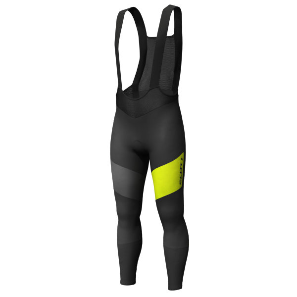 Scott RC Warm WB Tights black/sulphur yellow